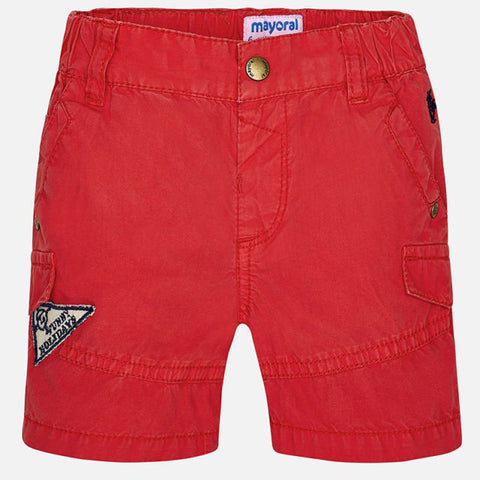 Mayoral, Baby Boy, Poplin Bermuda Shorts, Cherry