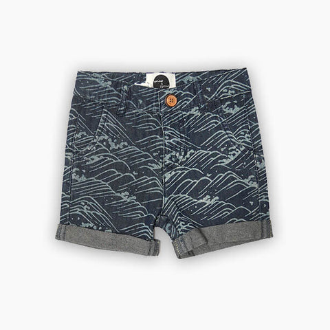 Sproet & Sprout, Wave Print Shorts, Navy