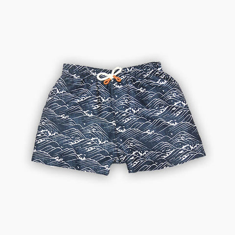 Sproet & Sprout, Waves Print Swim Shorts, Navy