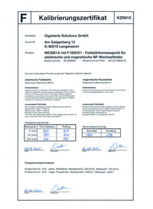 Calibration Certificate - 2Ground