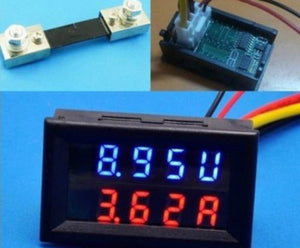 100V 100A DC Digital Voltmeter Ammeter - 2Ground