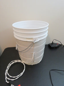 Anti Nano Foot Bath Bucket - 5 Gallon Pail with 14AWG Coil, No Power Supply - 2Ground