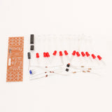 DIY Kits Electronic Suite Red Blue Double Color Flashing Lights Kit Strobe NE555 + CD4017  FREE SHIPPING - 2Ground