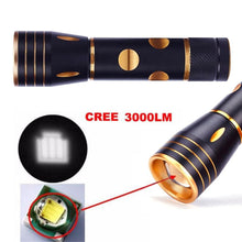 High Quality Focus 3000 Lumens 3 Modes CREE XML T6 LED 18650 Flashlight Torch Lamp Powerful - FREE SHIPPING - 2Ground