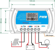 PWM 30A Solar Charge Controller 12V 24V LCD Display USB 5V Solar Panel Charge Regulator RTD-30A Y-Solar FREE SHIPPING - 2Ground