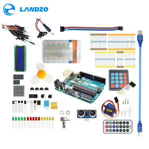 Arduino Starter Kit for arduino Uno R3 - 9G Server /arduino sensor /1602 LCD / jumper Wire/ UNO R3/Resistor - FREE SHIPPING