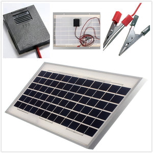 High Quality 10W 12V PolyCrystalline Stored Energy Power Solar Panel Solar Module System Cells Battery Charger With 2m Cable.  Free Shipping! - 2Ground