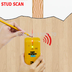 3-in-1 Detector Find Metal Wood Studs AC Voltage Live Wire Wall Scanner Electric Box Finder with Groove + Buzzer Handheld Tester FREE SHIPPING! - 2Ground