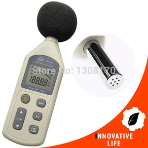 Digital Sound Pressure Noise Decibel Level Meter AC & DC Analogy Tester 30-130dB Range Office Factory Tool FREE SHIPPING! - 2Ground