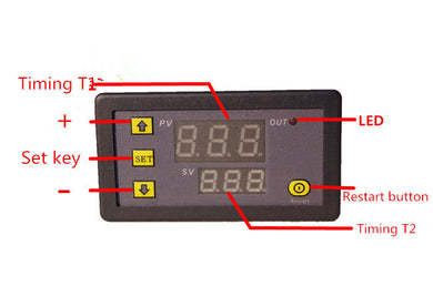Adjustable Frequency and Pulse Controller only, no wiring. - 2Ground