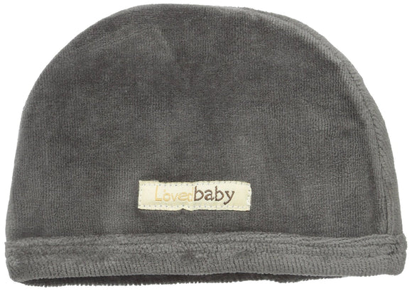 L'ovedbaby Organic Grey Velour Baby Cap (0-3, 6-12)
