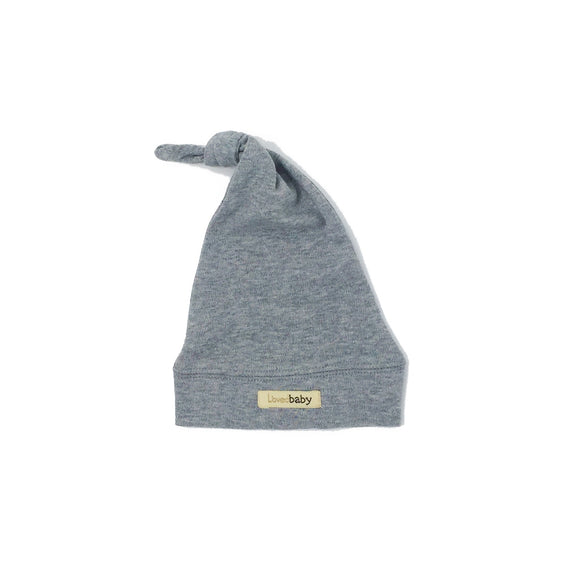 L'ovedbaby Heather Gray Knotted Hat