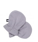 Bamboo Cotton Infant Gloves - Grey