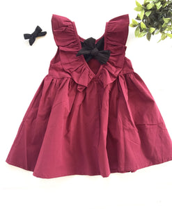 The Holly Ruffled Bow Dress