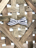 Linen Striped Farmhouse Bow