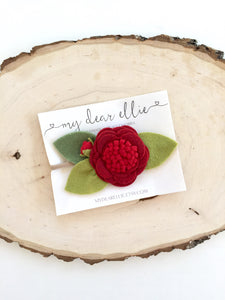 My Dear Ellie - Large Red Flower Headband