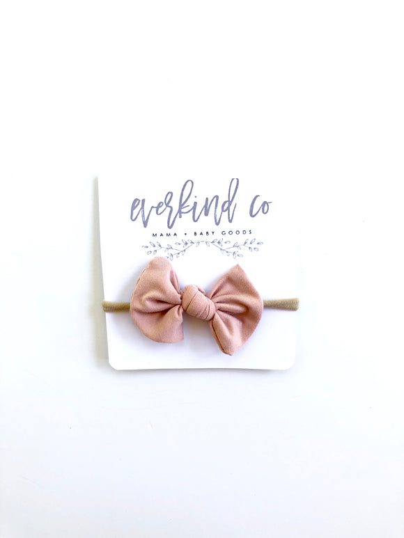 Blush Knotted Baby Bow