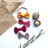 Burgundy Knotted Baby Bow