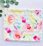 Watercolor Floral Baby Lovey Security Blanket