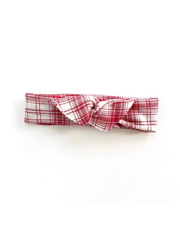 Red Plaid Boho Women's / Girl's Wire Headband