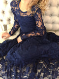 The Anastasia Lace Dress- Navy Blue