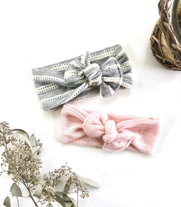 Blush Knotted Baby Headwrap| Newborn Headband