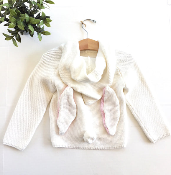 Reese White Bunny Sweater
