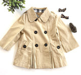 Eleanor Khaki Plaid Hooded Children's Jacket