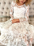 The Anastasia Lace Dress-White