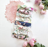 Navy Floral Vibes Women's Wire Headband