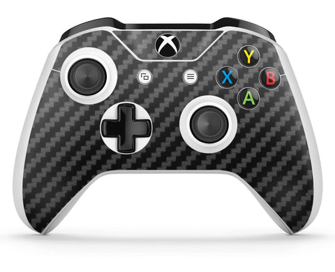 GNG 1 x Carbon Black Compatible with Xbox One S Controller Skins Full Wrap Vinyl Sticker