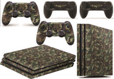 giZmoZ n gadgetZ PS4 Pro Console Camo Skin Decal Vinal Sticker + 2 Controller Skins Set