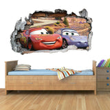 GNG Disney Cars Planes Smashed Wall Art Vinyl Decal Stickers Home Decor Boys Girls Children Bedroom M