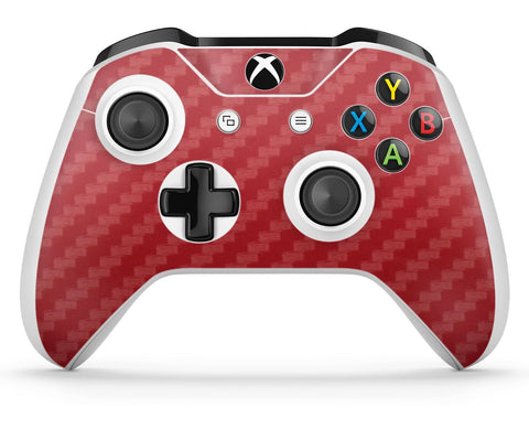 GNG 1 x Carbon Red Compatible with Xbox One S Controller Skins Full Wrap Vinyl Sticker