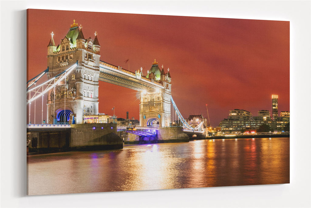 A3 30x45cm Canvas Wall Art of London Bridge for your Living Room Canvas Prints - Pictures