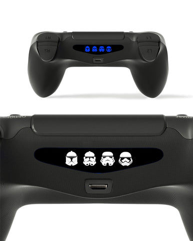 GnG 2x LED Trooper Light Bar Decal Sticker For PlayStation 4 / Slim / Pro PS4 Controller DualShock 4