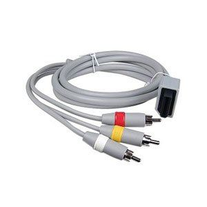 GNG AV Cable 3-RCA Composite Male Lead Compaible Nintendo Wii / Wii U Game Console