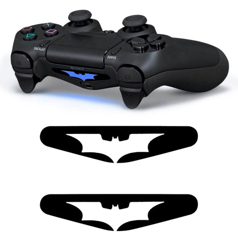 GnG 2x LED White Batman Light Bar Decal Sticker For PlayStation 4 PS4 Controller DualShock 4