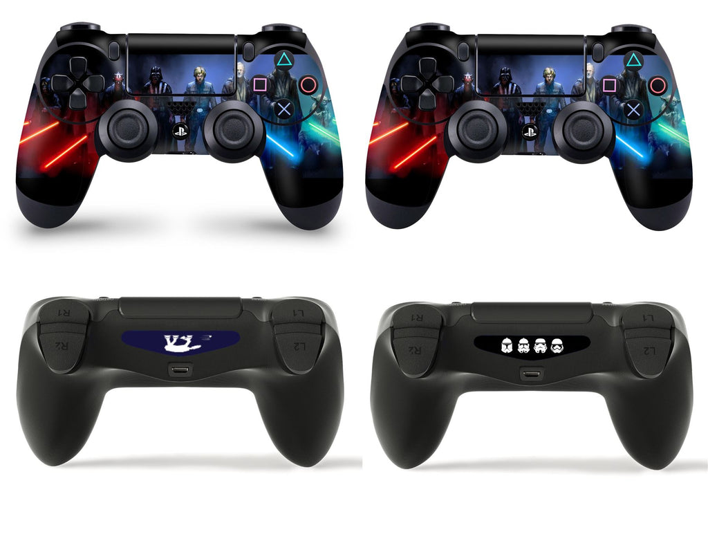 GNG 2 x Jedi Vs Sith PlayStation 4 PS4 Controller Skins Full Wrap Vinyl Sticker