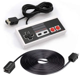 GNG Replacement Controller + Extension Cable Compatible with Nintendo NES SNES/Wii U , Super SNES Classic, NES Classic