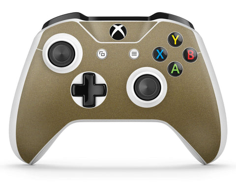 GNG 1 x Metallic Gold Compatible with Xbox One S Controller Skins Full Wrap Vinyl Sticker