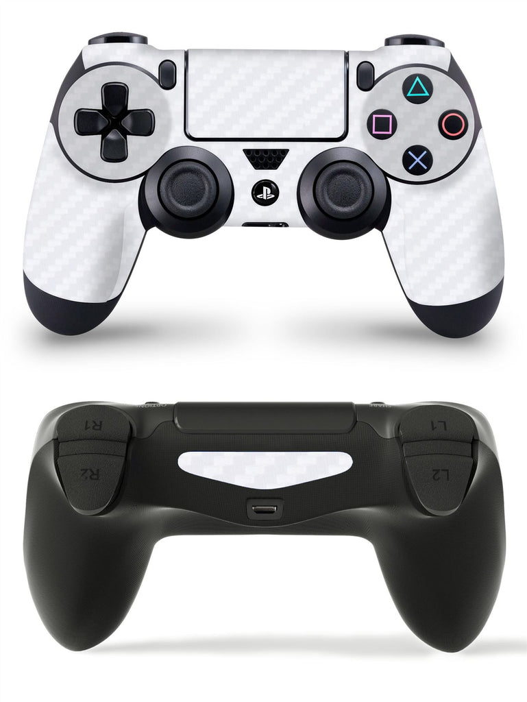 GNG 1 x Carbon White PlayStation 4 PS4 Controller Skins Full Wrap Vinyl Sticker