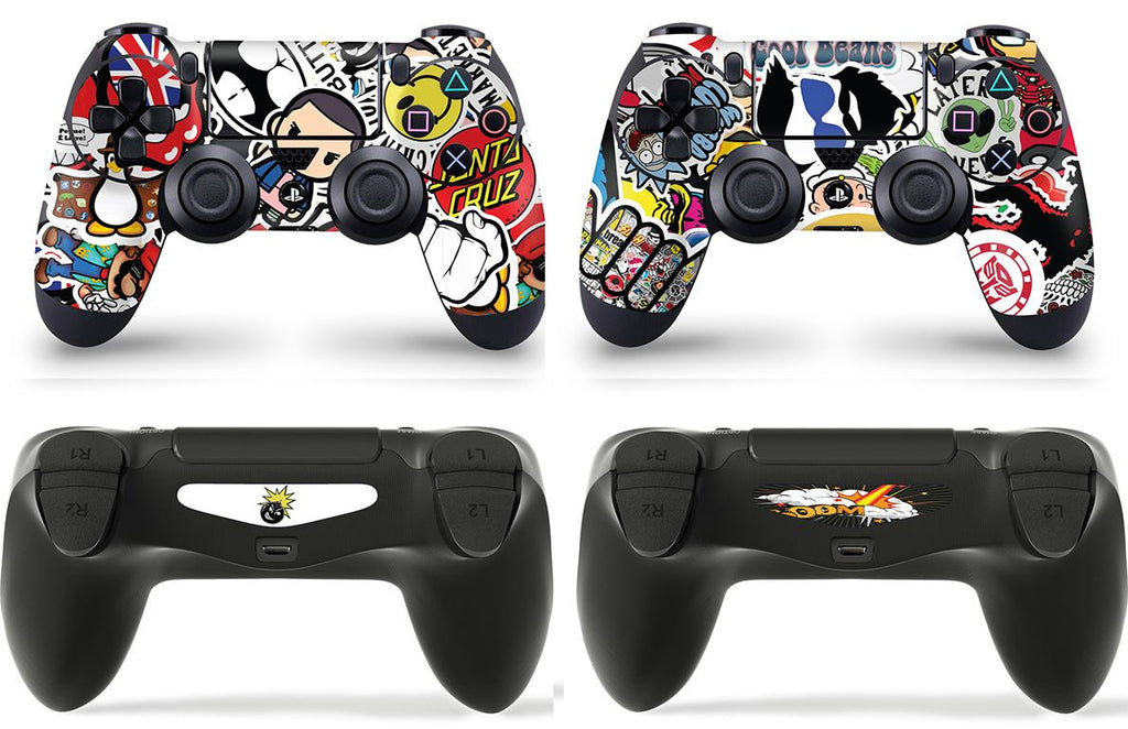 GNG 2 x STICKERBOMB PlayStation 4 PS4 Controller Skins Full Wrap Vinyl Sticker
