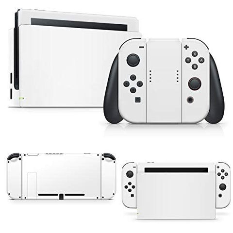giZmoZ n gadgetZ White Colour Skin Decal vinyl Sticker Compatible with Nintendo Switch Console + 1 Controller Skins Set