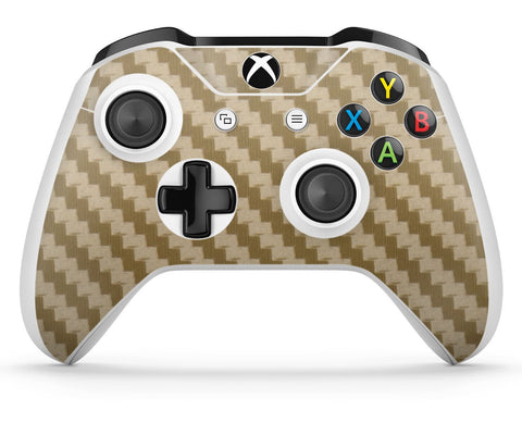 GNG 1 x Carbon Gold Compatible with Xbox One S Controller Skins Full Wrap Vinyl Sticker