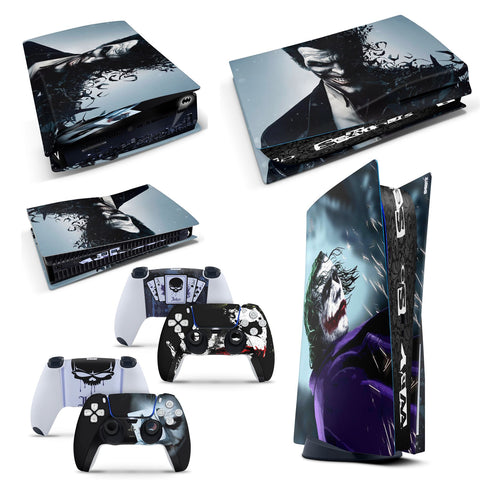 PS5 Disk Console Dark Joker From Batman Skin Decal Sticker + 2 Controller Skins Set