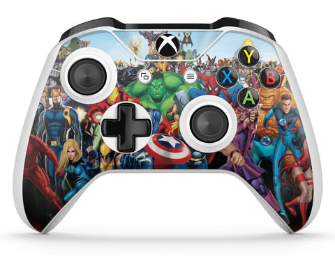 GNG 2 x Superhero Full Skin Wrap for Compatible with Xbox One S XBS Controller Vinyl Sticker