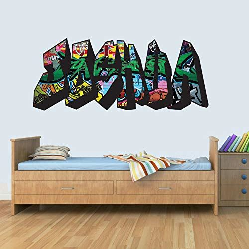 S Customisable Graffiti Childrens Name Wall Art Decal Vinyl Stickers for Boys/Girls Bedroom