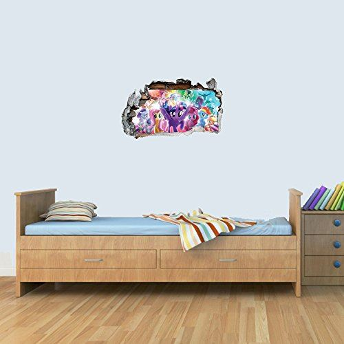 GNG S My Little Pony The Movie Vinyl Smashed Wall Art Decal Stickers Bedroom Boys Girls 3D