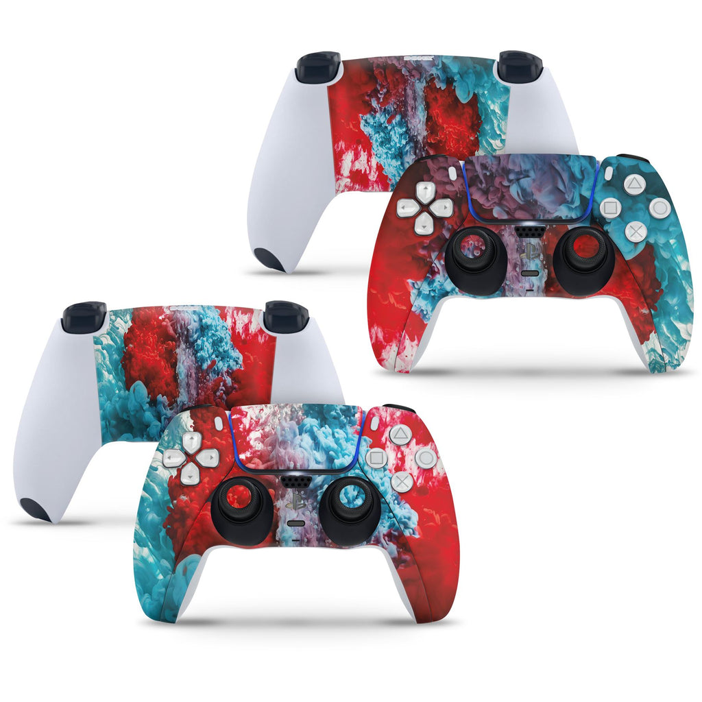 2 x COLOUR EXPLOSION Playstation 5 PS5 Controller Skins Full Wrap Vinyl Sticker